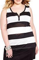 Addition Elle Plus Striped Sleeveless Top