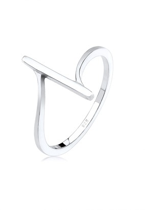 Elli Women's 925 Sterling Silver Solitaire Anniversary Ring N 0603220918_54