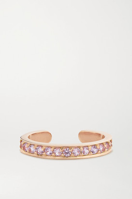Anita Ko 18-karat Rose Gold Sapphire Ear Cuff - one size