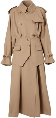 Burberry Basque detail trench coat