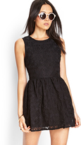 Forever 21 Embroidered Floral Fit & Flare Dress