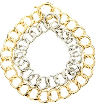 Rosantica Binari Two-tone Chain Choker - Silver Gold