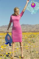 Shabby Apple Stefani Ponte Fitted Sheath Dress Pink PP