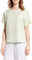 Eileen Fisher Petite Women's Organic Linen Top