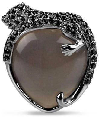 Umbra Agate Black Panther Cocktail Ring