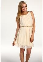 Jessica Simpson Sleeveless Eyelet Trim Dress (Pink) - Apparel