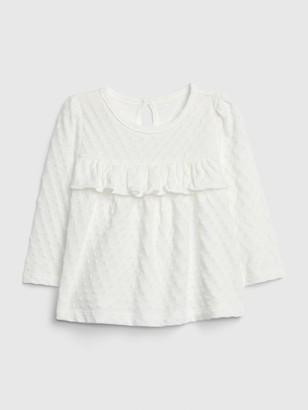 Gap Baby Ruffle Long Sleeve Shirt