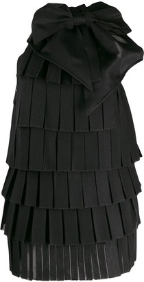 Balmain tiered panel dress