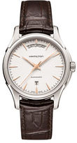 Hamilton Sapphire and Stainless Steel Leather Band Watch