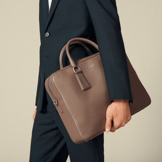 Sandro Grained Leather Briefcase