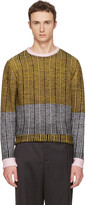 Eckhaus Latta Black & Yellow Wiggly Road Sweater