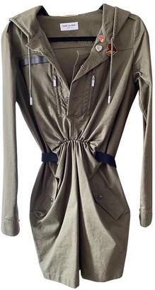 Saint Laurent Green Cotton Dress for Women