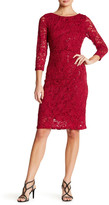 Marina Stretch Sparkle Lace Dress