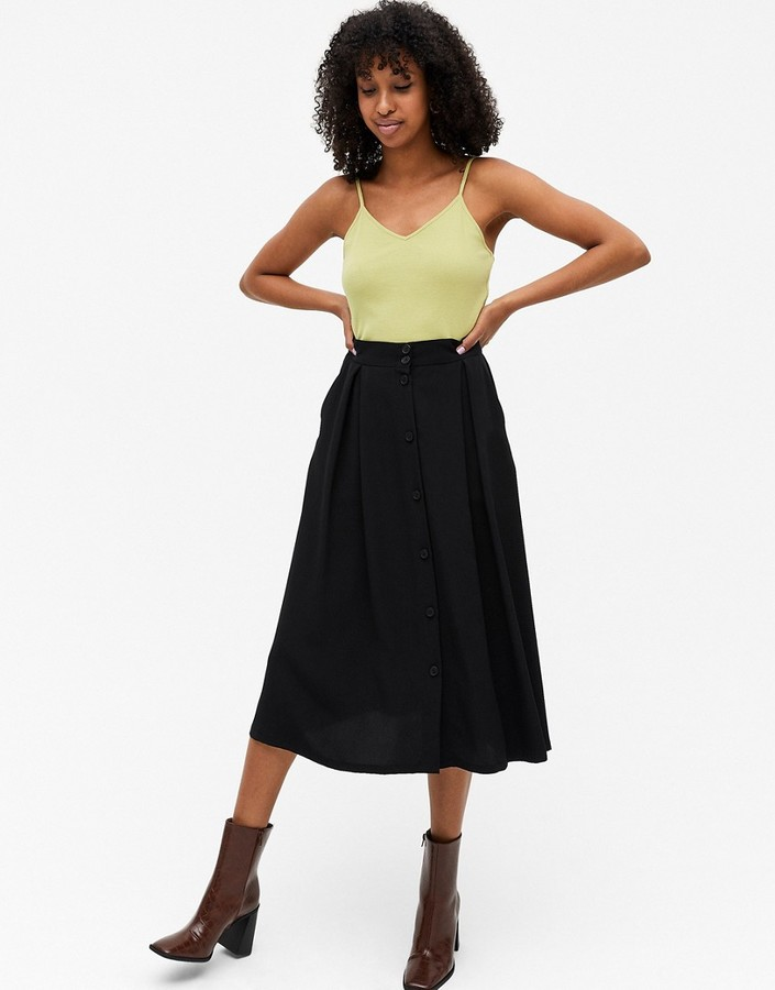 Thumbnail for your product : Monki Sigrid midi skirt in black