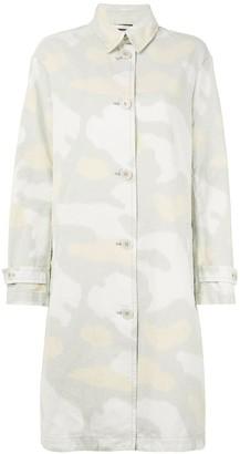 Aspesi Faded Camouflage Print Coat