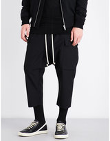 Rick Owens Dropped-crotch Wide Wool Trousers