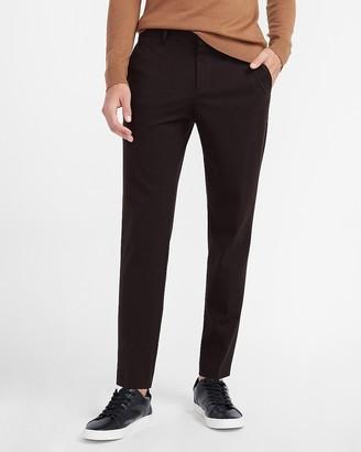 Express Slim Textured Brown Luxe Comfort Soft Suit Pants