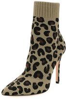 Gianvito Rossi Leopard Knit Sock Boot
