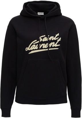 Saint Laurent Hoodie With Logo Print