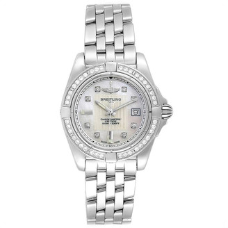 Breitling MOP Diamond and Stainless Steel Cockpit A71356 Women's Wristwatch 31.8MM