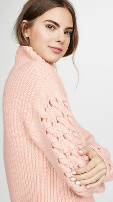 TSE Cashmere Turtleneck with Braided Cording