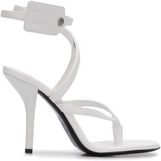 Off-White Zip-Tie 110mm sandals