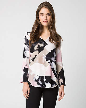 Le Château Abstract Print Viscose Blend Tunic Blouse