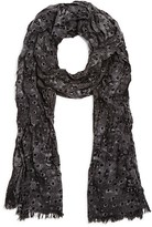 John Varvatos Skull Crown Polka Dot Wool Scarf