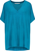 Diane von Furstenberg Honey silk and cashmere-blend top