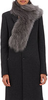 Barneys New York Women's Fur Scarf-Grey