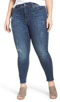 Melissa McCarthy Plus Size Women's Fray Hem Pencil Jeans