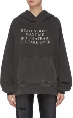 Amiri 'Heaven and Hell' slogan print hoodie