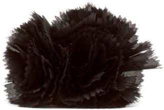 Alexandre Vauthier Silk Flower Brooch - Womens - Black