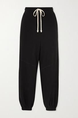 Twenty Montreal Everest Thermal Waffle-knit Jersey Track Pants - Black