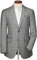 Classic Fit Blue Checkered Linen Mix Linen Jacket Size 36
