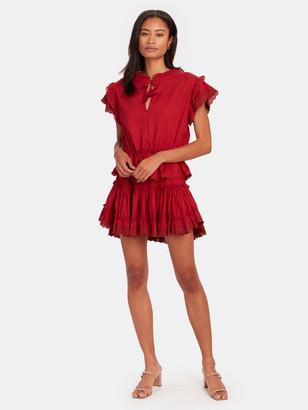 MISA Lilian Ruffled Mini Dress