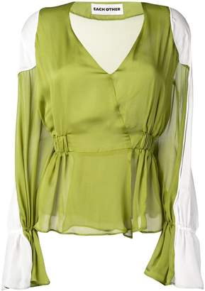 Each X Other shoulder pads blouse