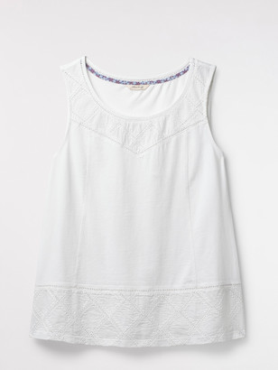 White Stuff Locket Embroidered Jersey Vest