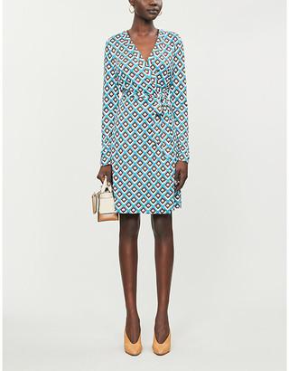 Diane von Furstenberg Julian wrap recycled-silk jersey midi dress