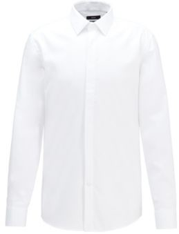 BOSS Easy-iron slim-fit evening shirt with adaptable cuffs