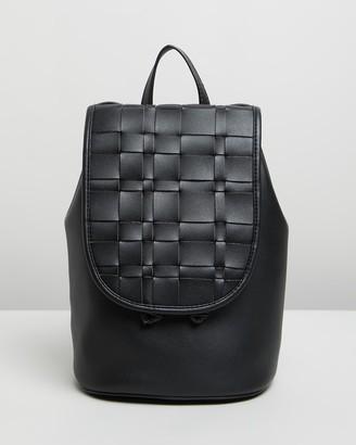 Topshop Weave Flap Backpack