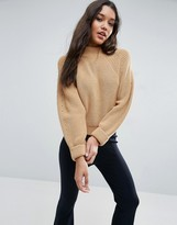 Asos Cropped Sweater In Chunky Knit