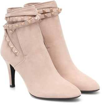 Valentino Rockstud Flair suede ankle boots