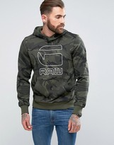 G Star G-Star Felor Hooded Camo Sweater