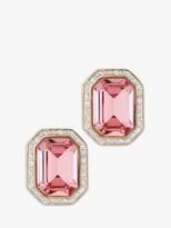 Swarovski Eclectica Vintage 22ct Gold Plated Crystal Octagonal Clip-On Stud Earrings, Gold/Pink