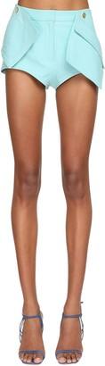 Jacquemus 3d Pockets Leather Shorts