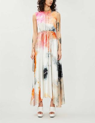 Roksanda Abstract-print sleeveless silk midi dress