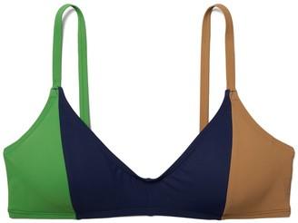 Tory Burch Color-Blocked Bikini Top