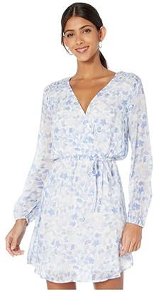 Bella Dahl Smocked Yoke Cross Front Dress (Malibu Blue) Women's Clothing