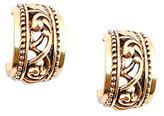Barse Bronze Scroll Hoop Earrings